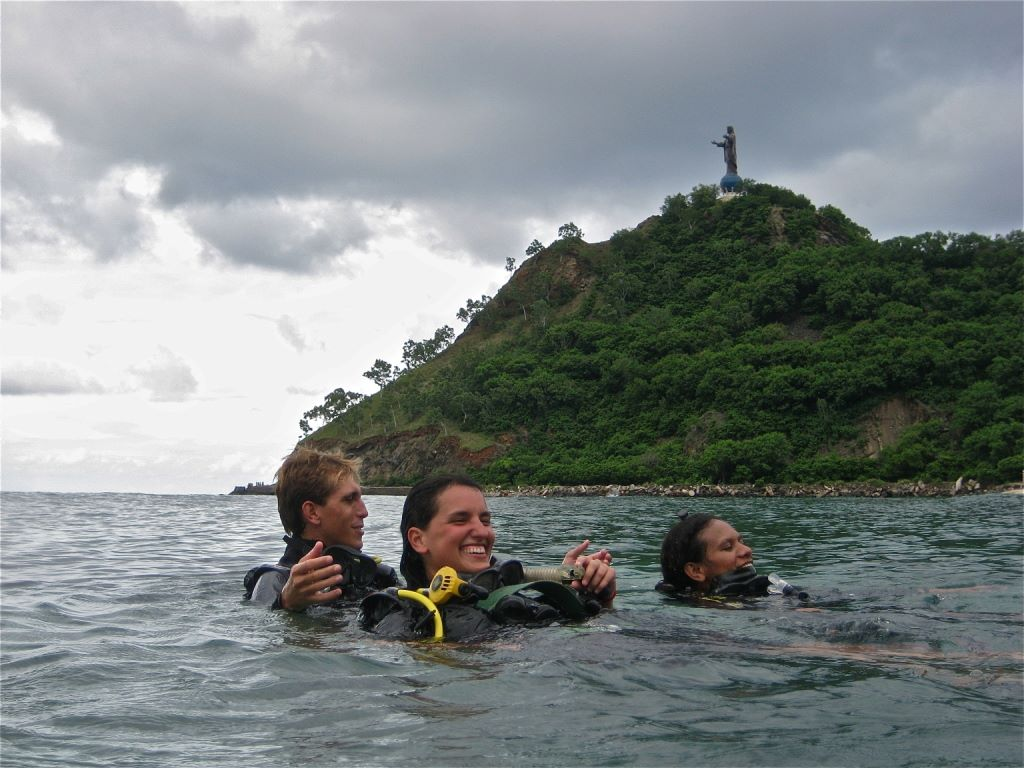 Doing my Open Water Course in Cristo Rei.