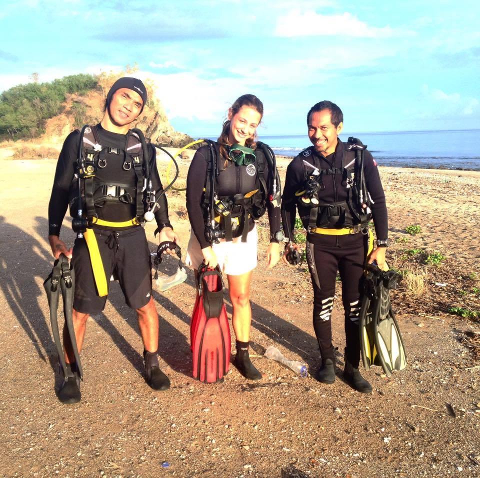 Indonesian Rock Star Kaka Satriaji from SLANK diving Timor Leste
