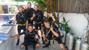 Open water course dive timor